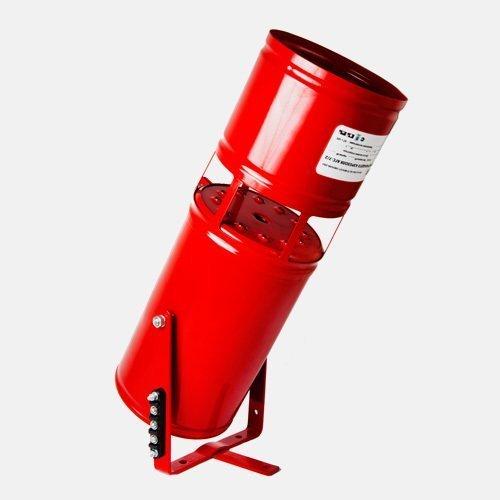 Генератор огнетушащего аэрозоля с инжекторным охлаждением