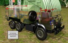 Система аэрозольного пожаротушения грузовых автомобилей на примере автомобиля «КАМАЗ», готовые решения Гранит-Саламандра
